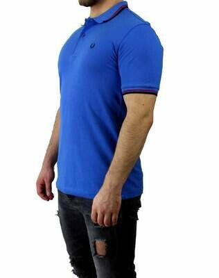 Fred Perry Men's Polo Shirt Sax Blue / Black