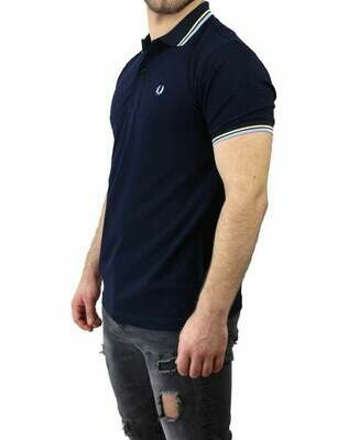 Fred Perry Men's Polo Shirts Navy / Light Blue