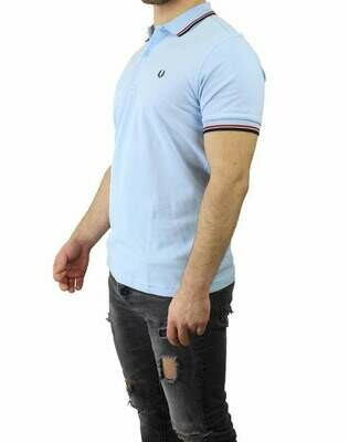 Fred Perry Men's Polo Shirts Light Blue / Black