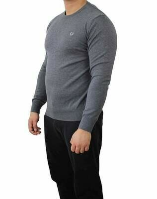 Fred Perry Crew Neck Men's Pullover Gray