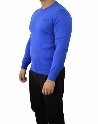 Fred Perry Crew Neck Men's Pullover Sax Blue