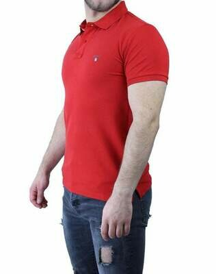 Gant Men's Polo Shirts Red