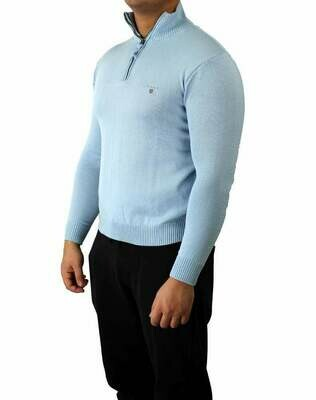 Gant Zip Men's Pullover Light Blue