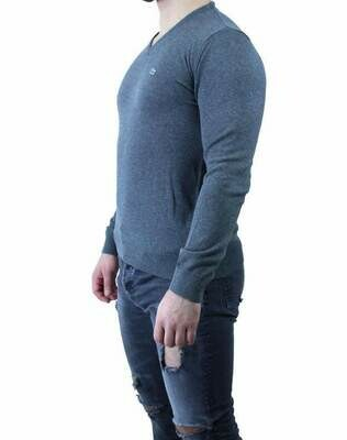 Lacoste Men's Pullover V - Neck Gray