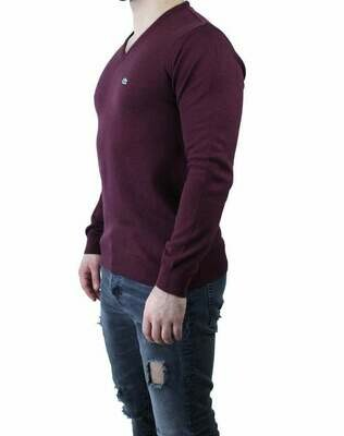 Lacoste Men's Pullover V - Neck Bordeaux