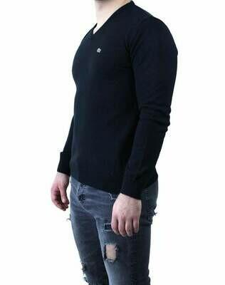 Lacoste Men's Pullover V - Neck Black