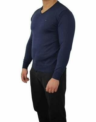 Tommy Hilfiger V Neck Men's Pullover Navy
