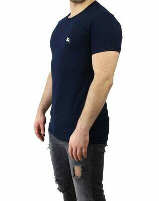 Burberry Crew Neck Men's T-Shirt Navy