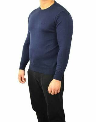 Tommy Hilfiger Crew Neck Men's Pullover Navy