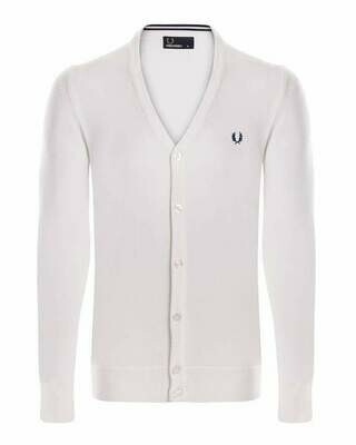 Fred Perry Men's Cardigan Ecru