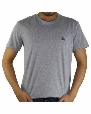 Burberry Crew Neck Men's T-Shirt Gray