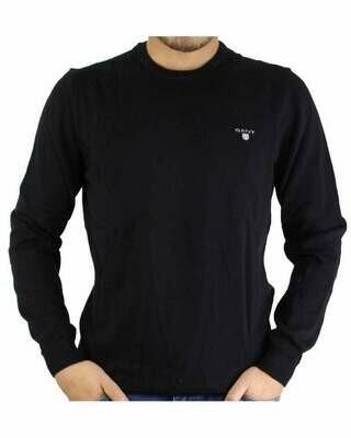 Gant Men's Pullover Crew - Neck Black
