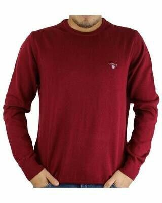 Gant Men's Pullover Crew - Neck Red