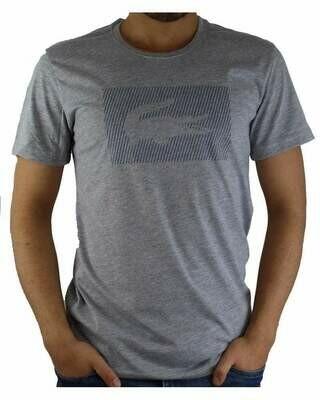 Lacoste Men's T-Shirt Crocodile Brand Crew Neck Gray