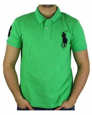 Ralph Lauren Custom Fit Men's Polo Shirts Big Pony Light Green