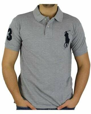 Ralph Lauren Custom Fit Men's Polo Shirts Big Pony Gray