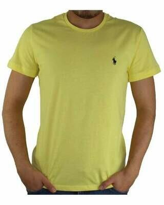 Ralph Lauren Crew Neck Men's T-Shirt Yellow