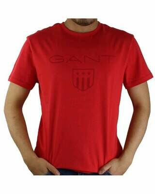 Gant Men's T-Shirts Wappen Red