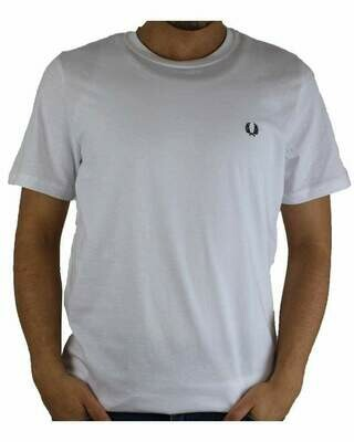Fred Perry Men's T-Shirt Crew Neck White