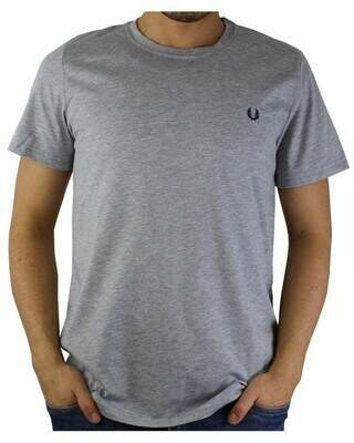 Fred Perry Men's T-Shirt Crew Neck Gray