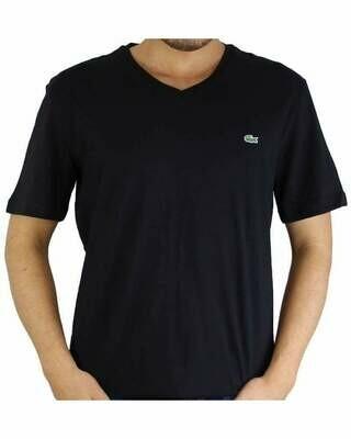 Lacoste Men's T-Shirt V Neck Black