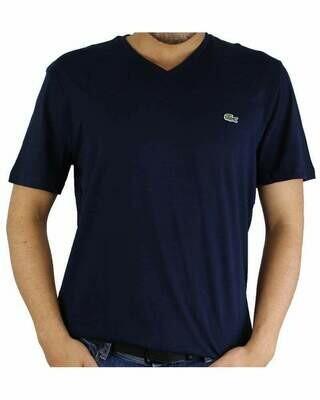 Lacoste Men's T-Shirt V Neck Navy