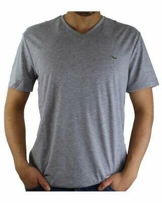 Lacoste Men's T-Shirt V Neck Gray
