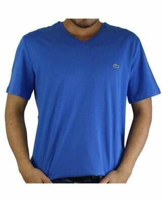 Lacoste Men's T-Shirt V Neck Sax Blue
