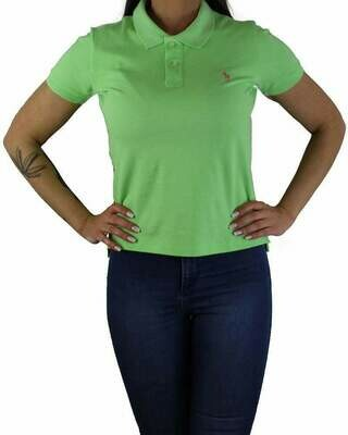 Ralph Lauren Women's Polo Shirts Classic Fit Small Pony Light Green
