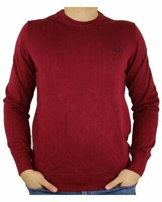 Fred Perry Crew Neck Men's Pullover Red