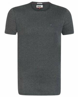 Tommy Hilfiger Men's T-Shirt Crew Neck Dark Gray