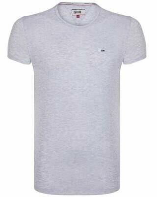Tommy Hilfiger Men's T-Shirt Crew Neck Light Gray