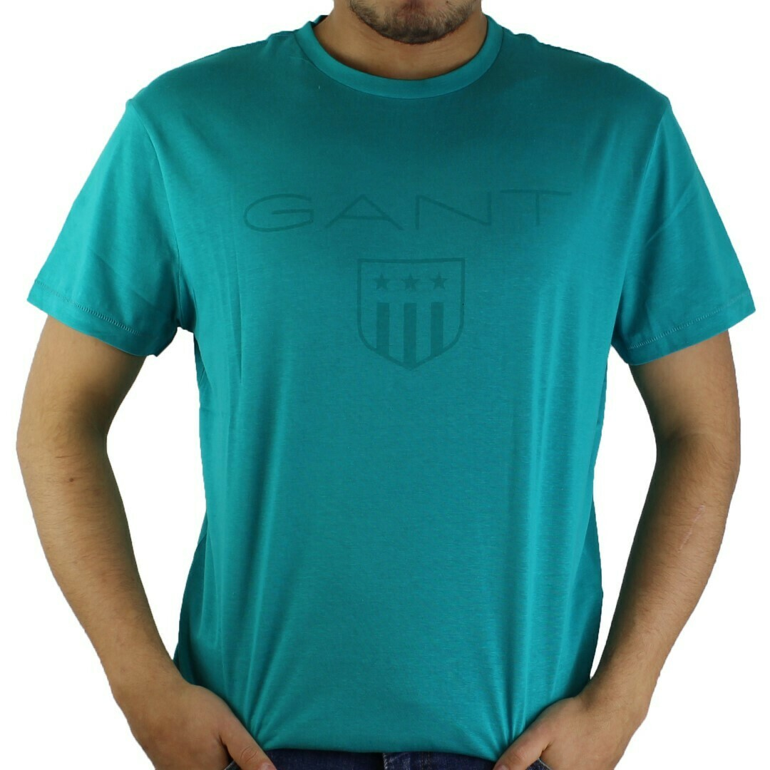 Gant Men's T-Shirts Wappen Green