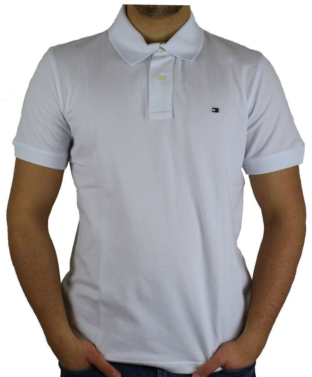 Tommy Hilfiger Men's Polo Shirts Regular Fit White