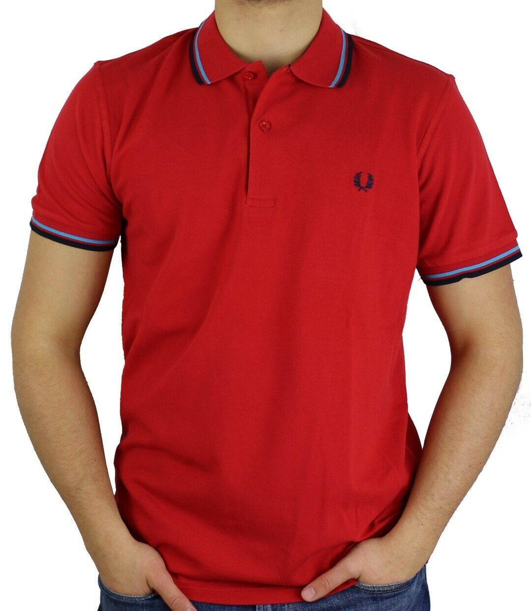 Fred Perry Men's Polo Rot