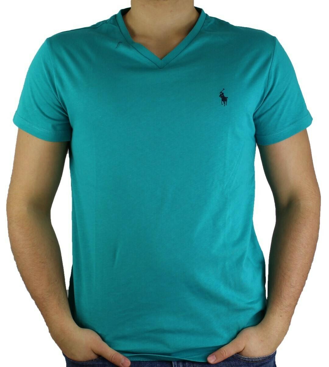 Ralph Lauren V - Neck Men's T-Shirt Green