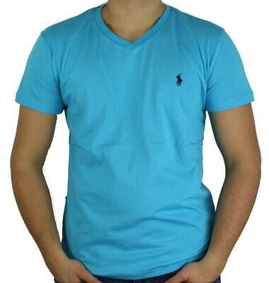 Ralph Lauren V - Neck Men's T-Shirt Turquoise