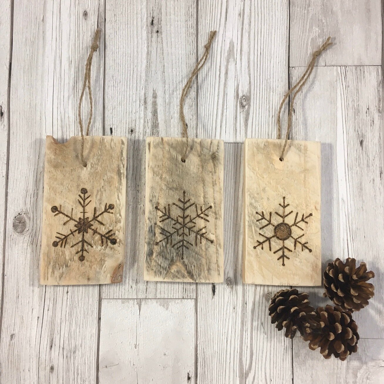 Snowflake Decoration Set of 3