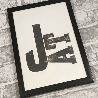 Personalised Letterpress Print