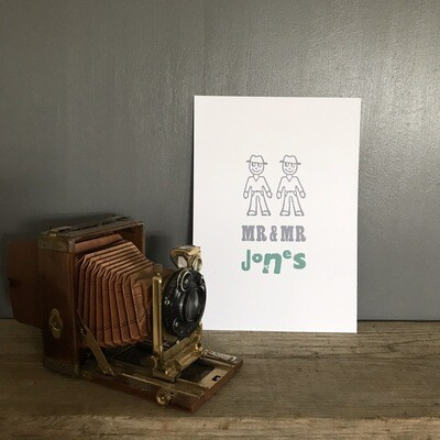 Mr And Mr Personalised Print