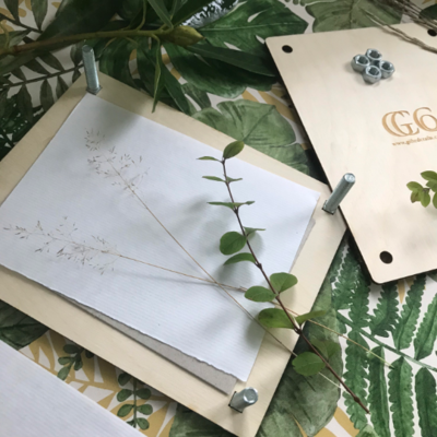 Personalised Book Press / Flower Press