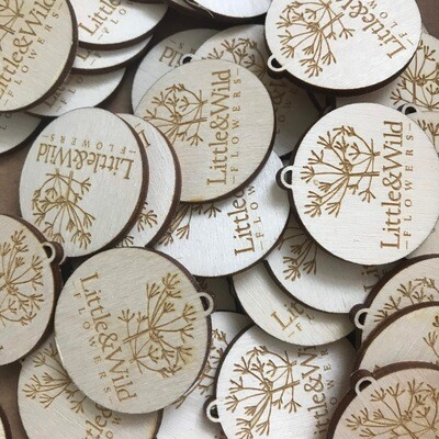 Personalised Wooden Tag - Craft Tag - Makers Tag - Personalised Merchandise