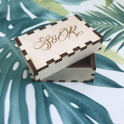 Personalised Box - Customisable Box - Favour Box - Ring Box - Craft Box - Branded Box