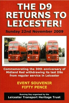 Midland Red D9 Souvenir programme from 2009