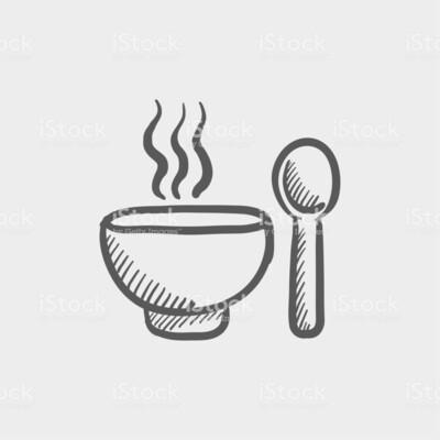 Liter soep met stokbrood en kruidenboter
