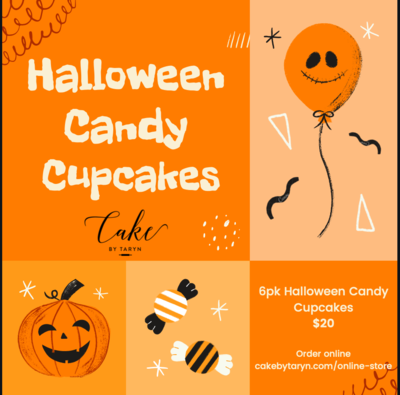 6pk Halloween Candy Cupcakes- October 31st PICK-UP ONLY