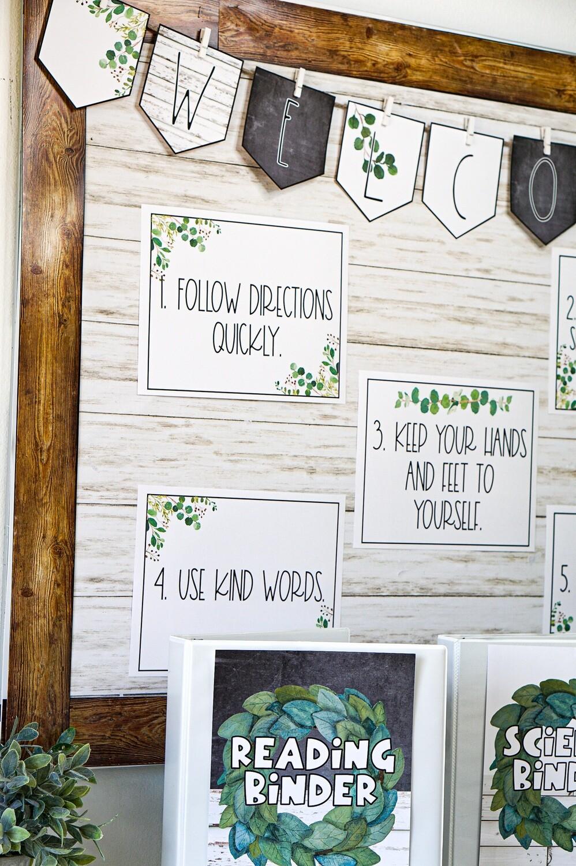 Modern Farmhouse Classroom Decor Bundle