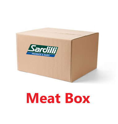 MEAT BOX - CHICKEN, GROUND BEEF, STEAKS AND BACON. THIS BOX HAS IT ALL. CLICK TO SEE DETAILS