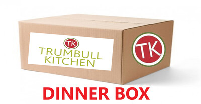 DINNER BOX - We did it again.  We teamed up with Trumbull Kitchen (TK)  to bring you another awesome dinner box.