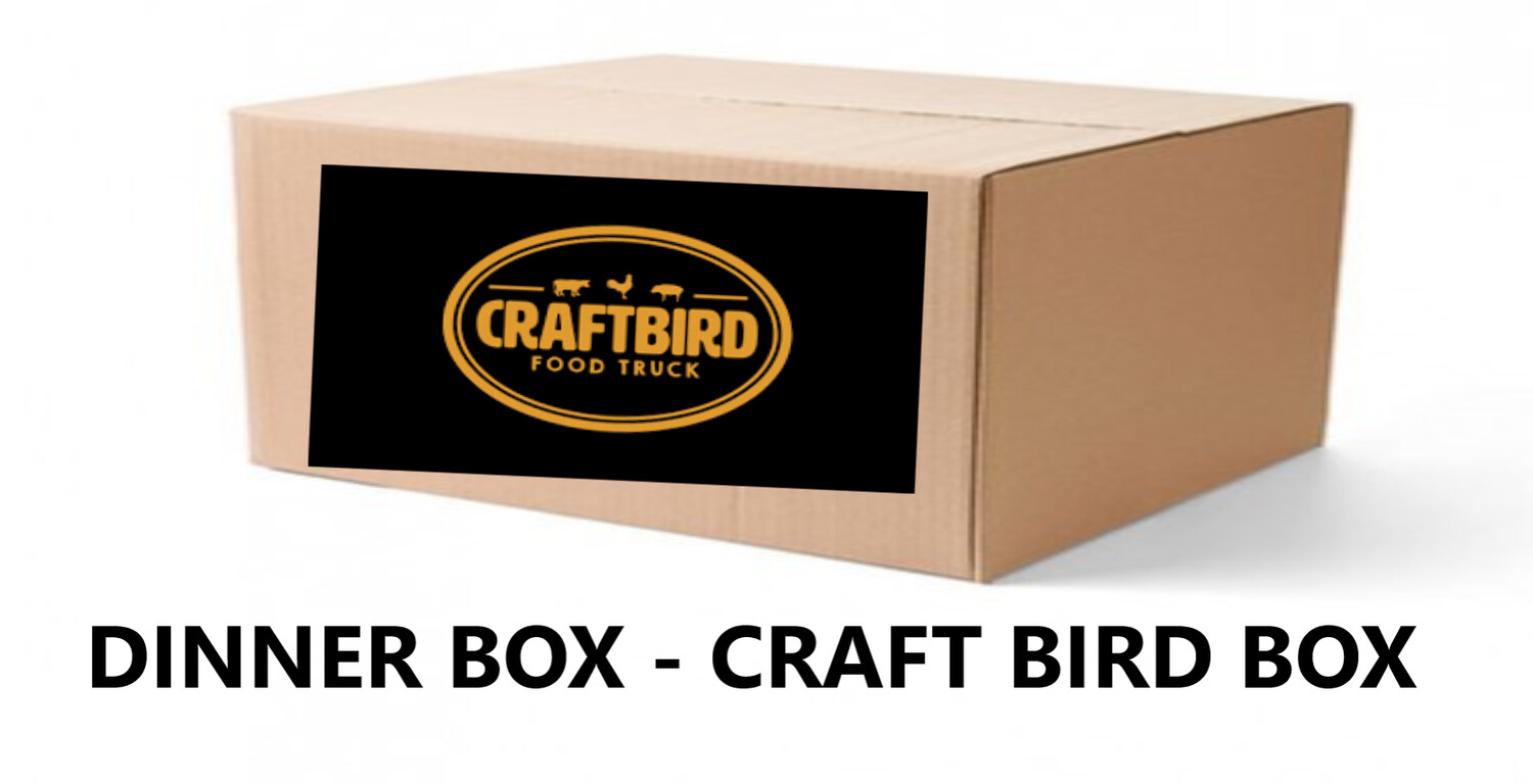 DINNER BOX - CRAFTBIRD BOX - THE ORIGINAL FRIED CHICKEN DINNER BOX IS BACK. A BUCKET OF FRIED CHICKEN FROM THE BEST FOOD TRUCK IN TOWN - FEB 24th Pick up